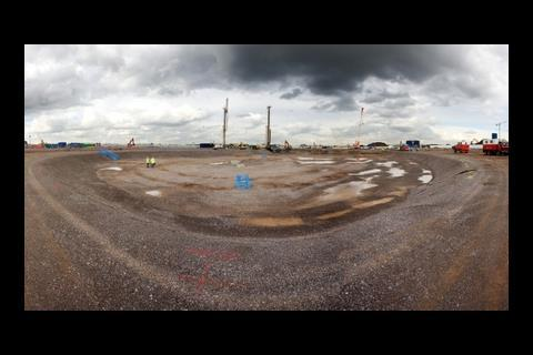 Pile driving starts at 2012 velodrome